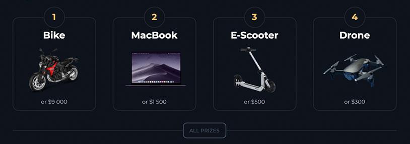 Macbook Pro mit Lotterie Losen gewinnen